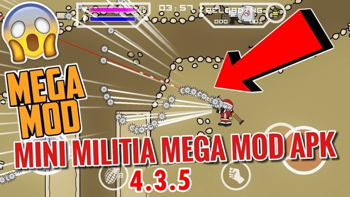 Mini Militia Mega Mod apk (Latest version 4.3.5)