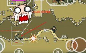 Mini Militia one shot kill mod image describing actual effect behind