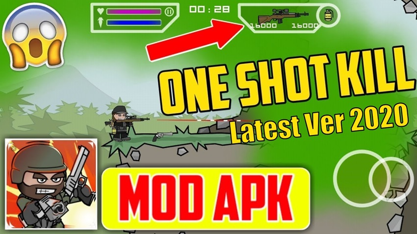 One Shot Kill Mod (High Damage) Mini militia Latest version 2020